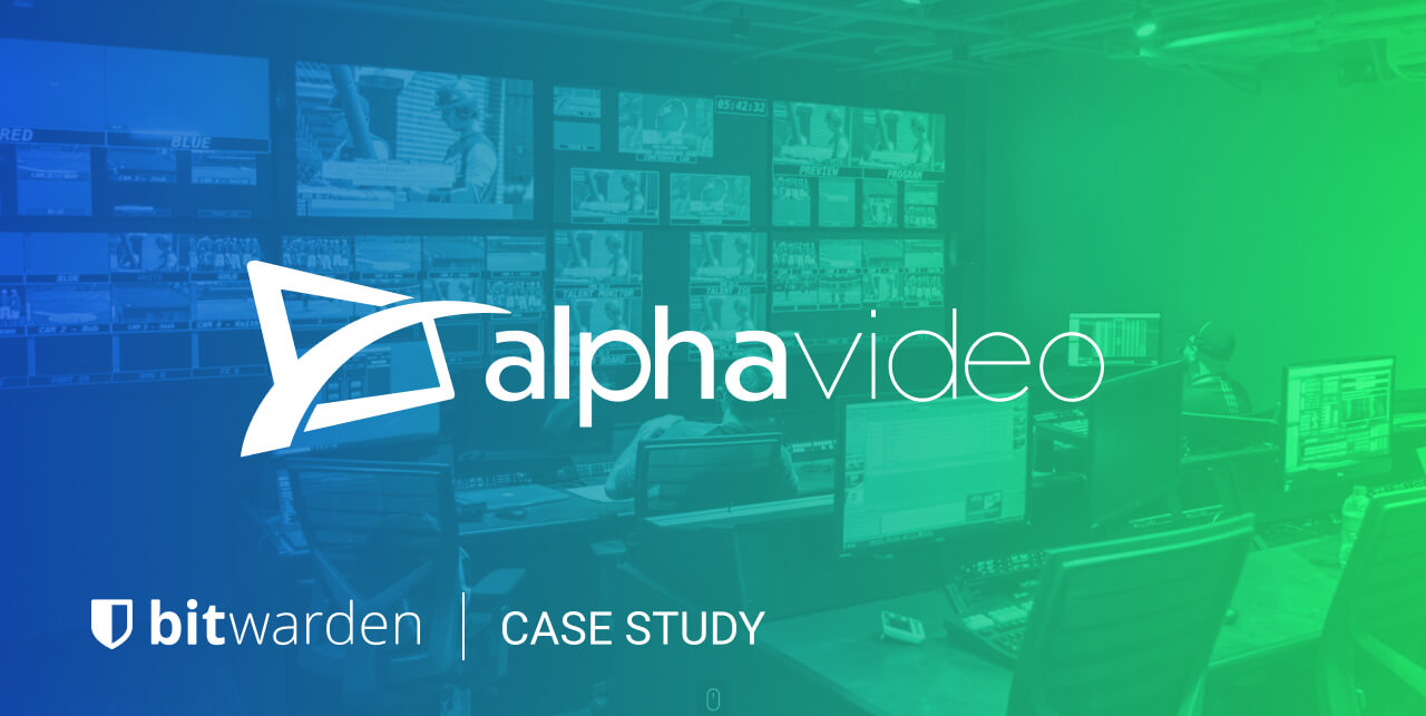 Alpha Video Selects Bitwarden for Centralized Password Management