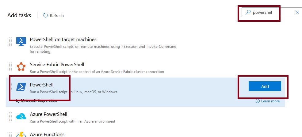 Azure DevOps Release Powershell Task