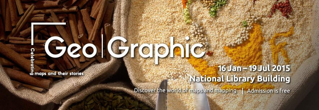 A title card labelled Geo|Graphic: Celebrating maps and their stories. Open bags of spices are in the background.