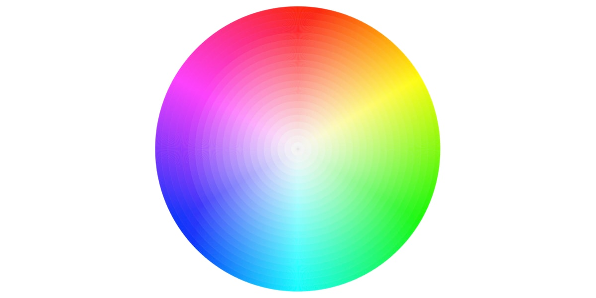 A color wheel that UI designers use to select colors