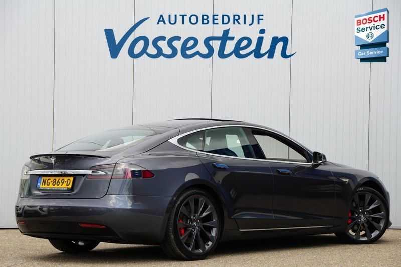Tesla Model S P90D Performance Ludicrous 576pk / Autopilot / Pano / 21inch / Carbon / 162.500,- Nieuw afbeelding 11