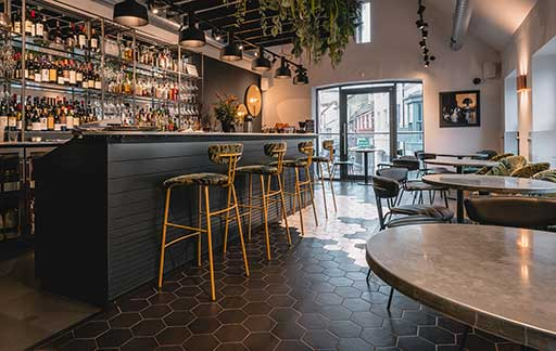 Commerical bar The FLint House by Method Furniture Makers