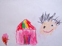 4歳で書いたクレヨンの絵