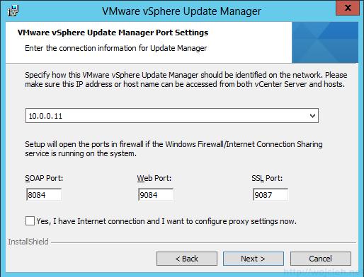 VMware vSphere Update Manager - Installation 8