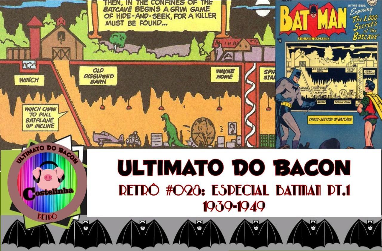 Imagem com desenhos do Batman em sua Batcaverna
