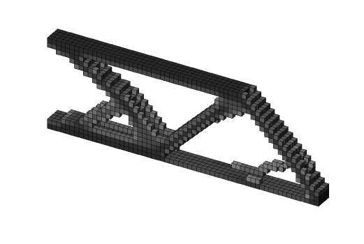 Topology optimized cantilever beam