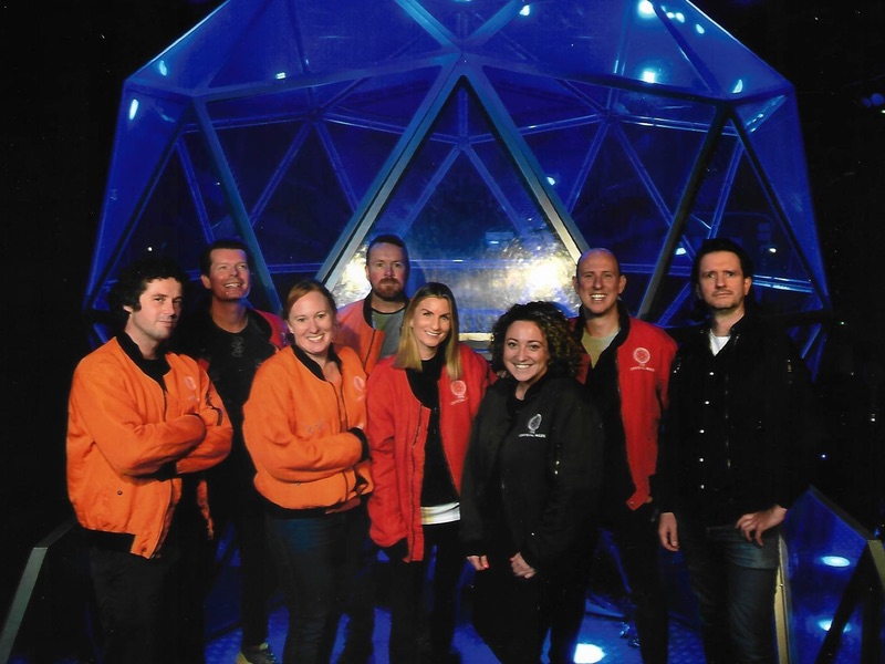 The team at the Crystal Maze