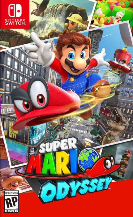 The boxart for Super Mario Odyssey for the Switch