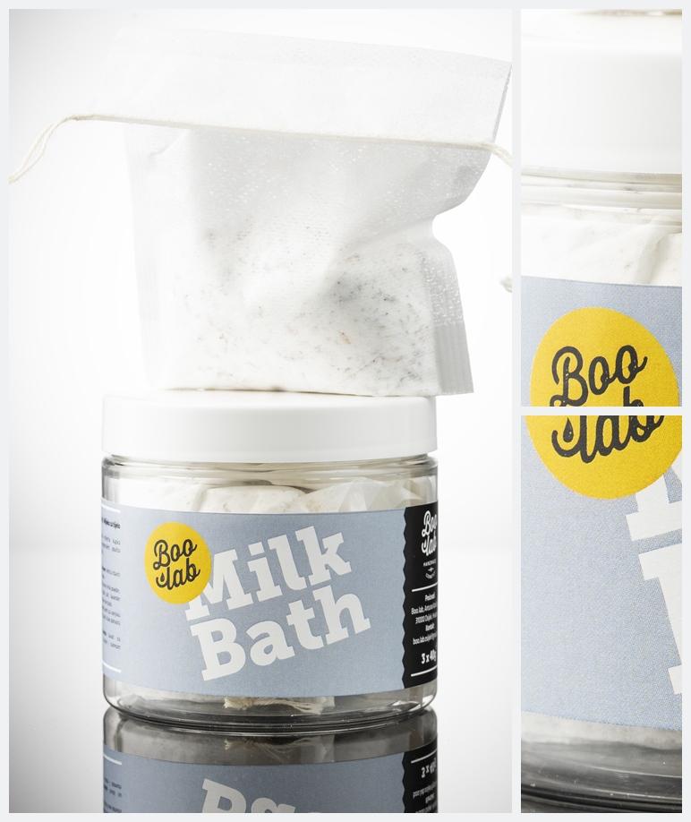 Boolab mliječna kupka Milk Bath u originalnoj ambalaži.