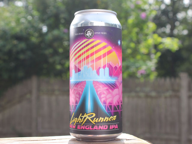 LightRunner, a New England IPA brewed by Medusa Brewing Company