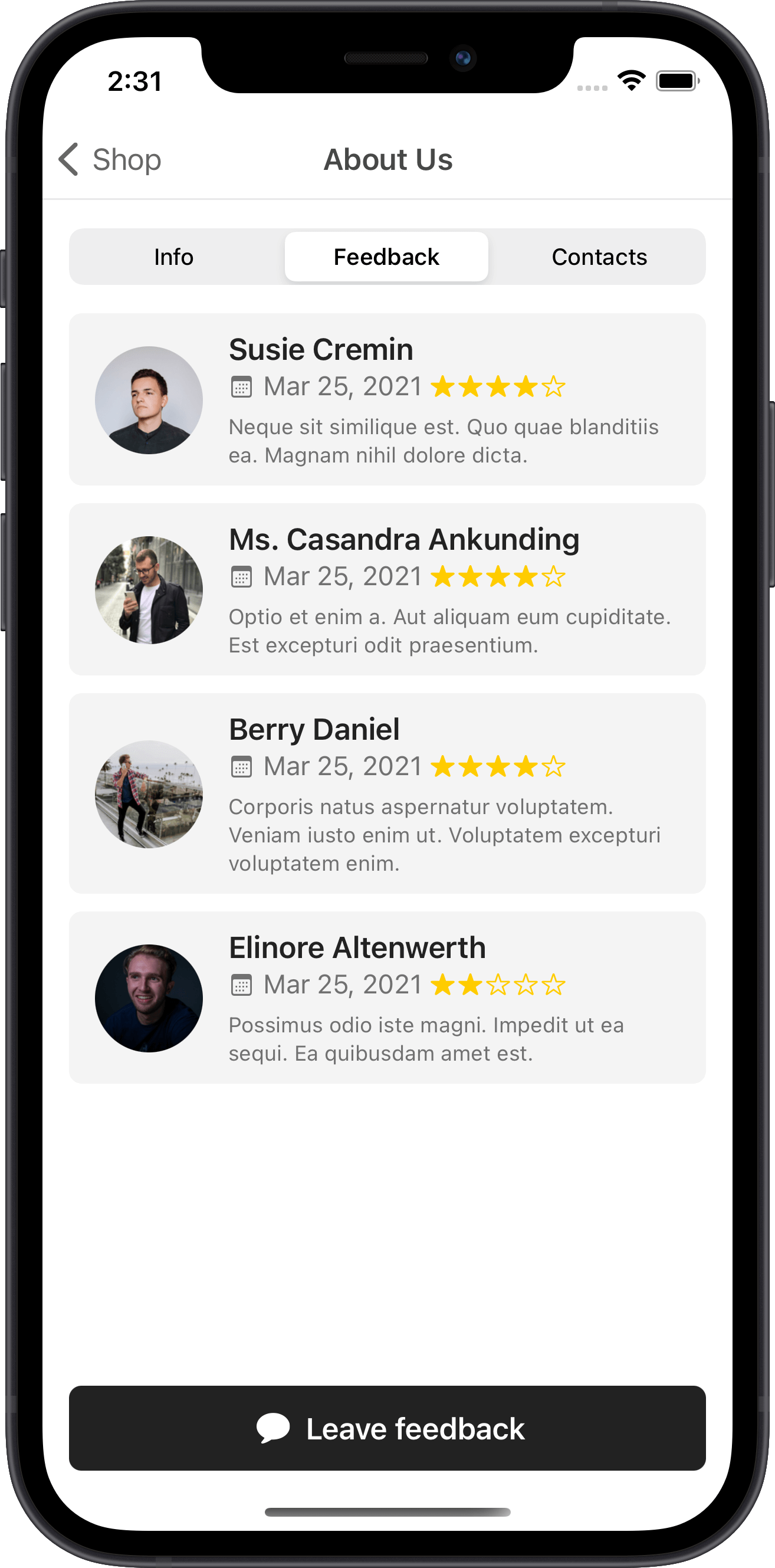 e-commerce, about us, feedback