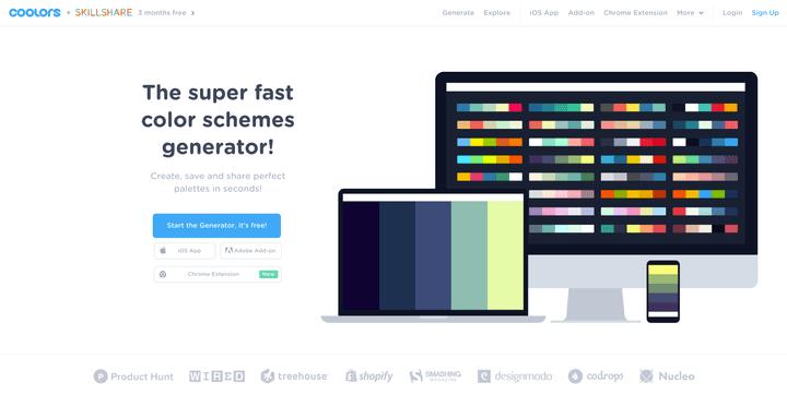 รวม Collection Color Scheme สำหรับนำไปแต่งเว็บไซต์