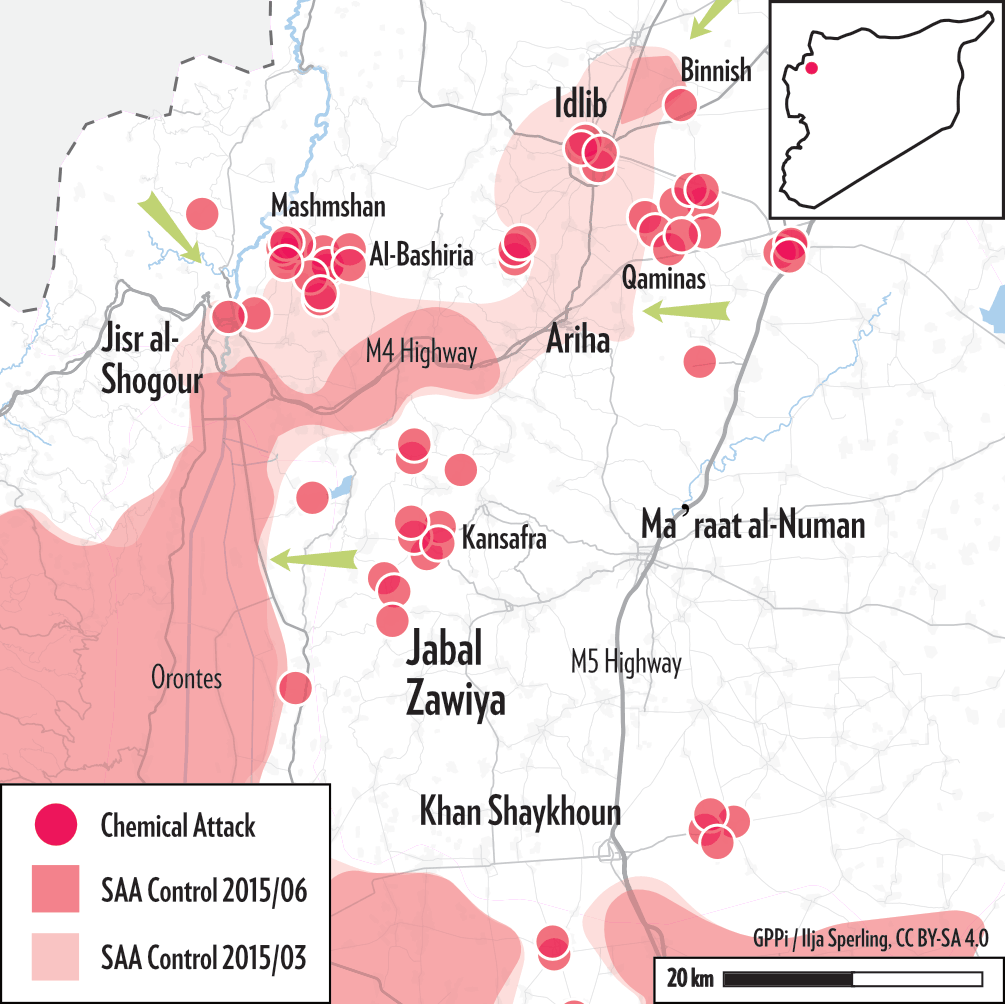 Map of Idlib 2015 Campaign
