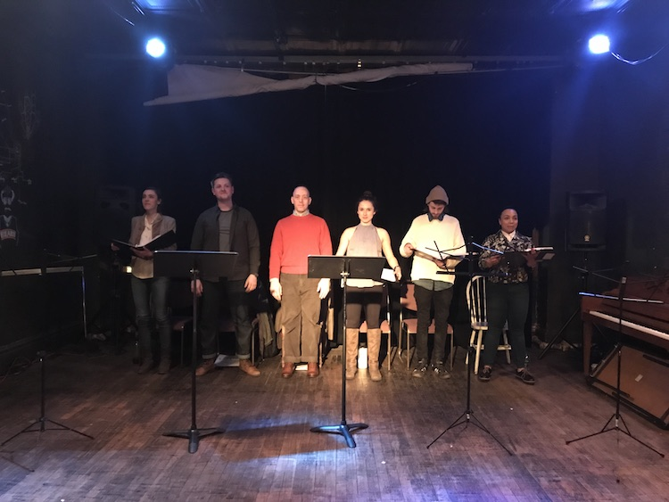 Cast of 20% Theatre Company's reading of ONCE A SPY.
