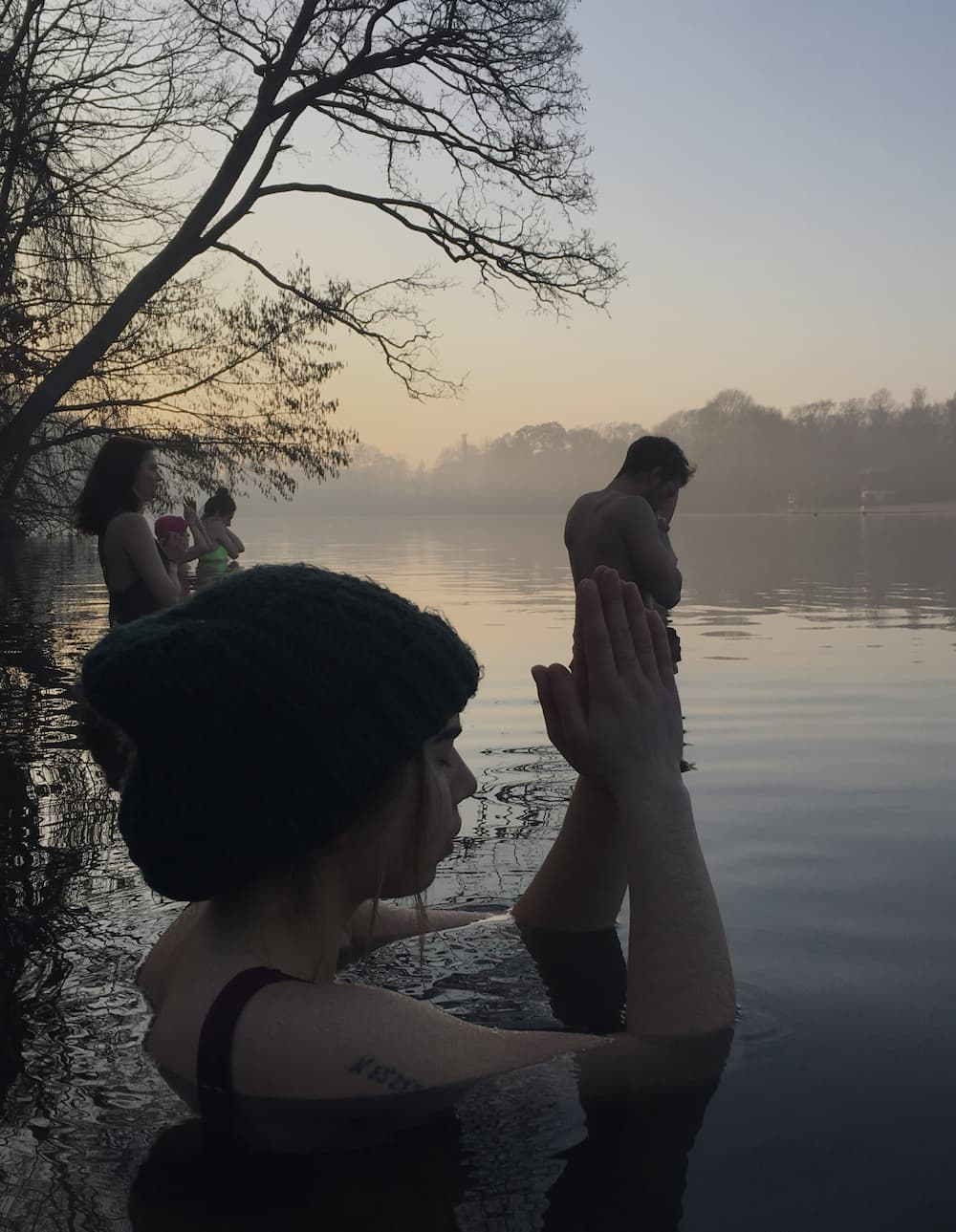 Meditation in cold water