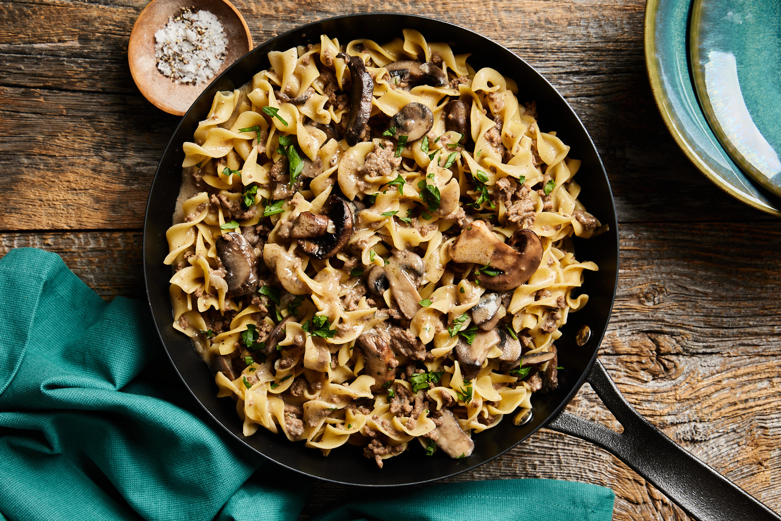 Quick and Easy One Pot Beef Stroganoff