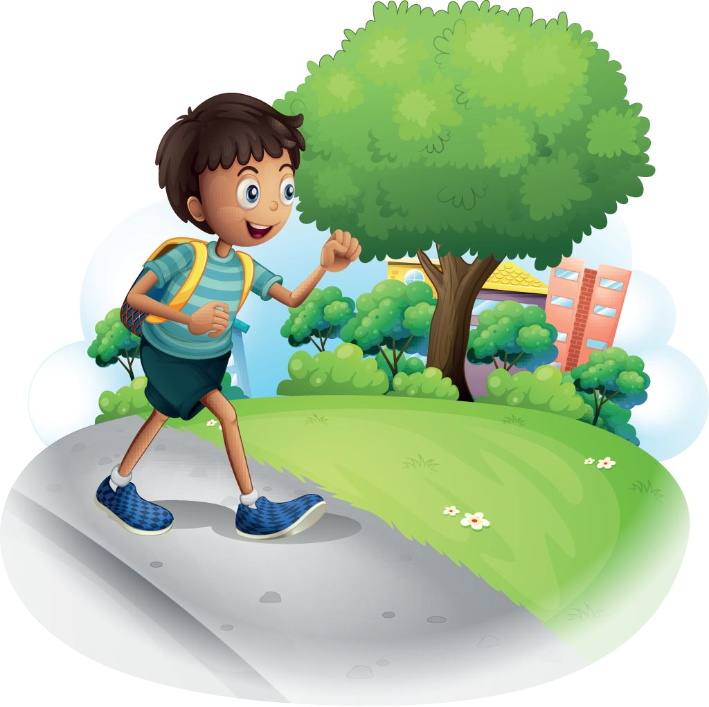 Boy going to school. Go For It, Bablu! - A story for kids