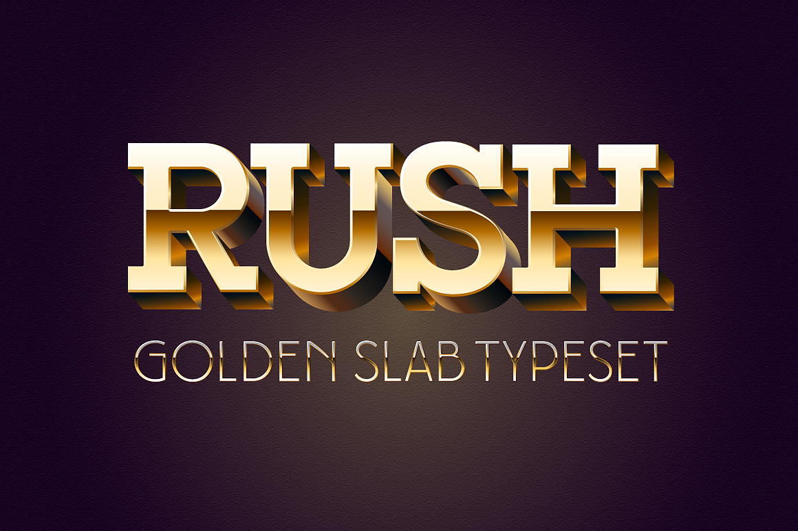 Golden 3D Slab Typefaces images/promo_4.png
