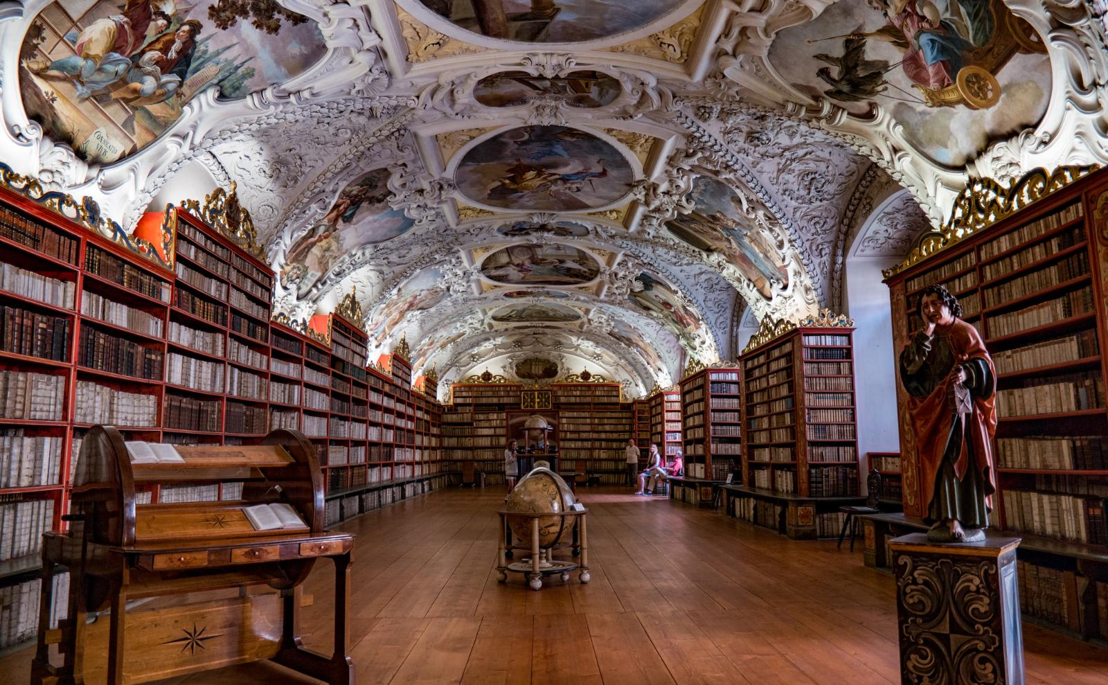strahov monastery library in prague