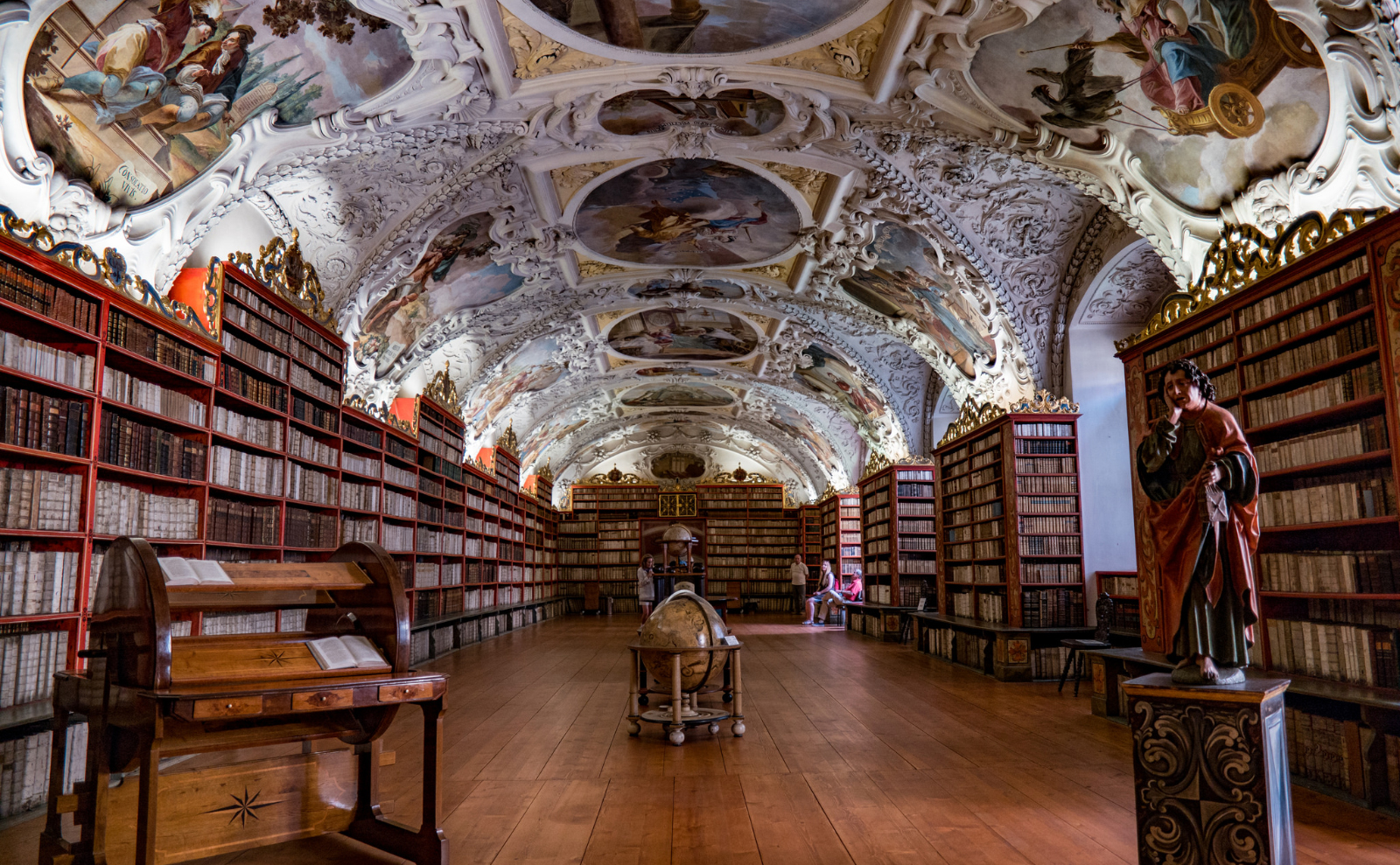 the theological hall of the strahov monastery library