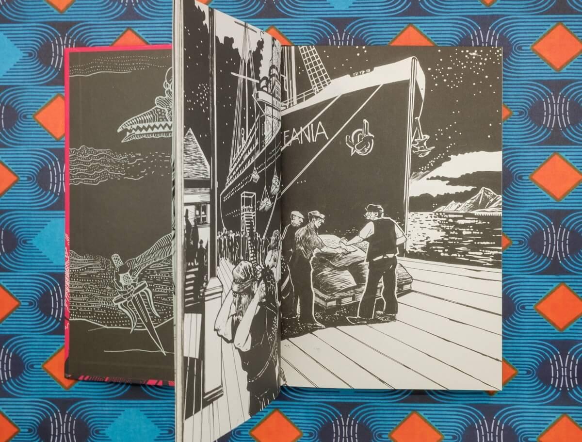 Illustration von Michael Hahn zu Der Akmokläufer von Stefan Zweig.