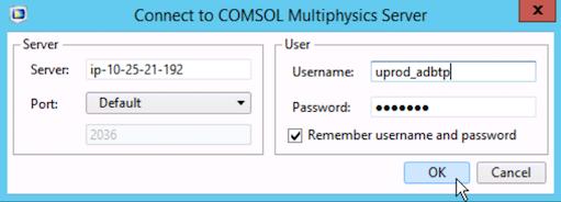 COMSOL Rescale Desktop Client Connect