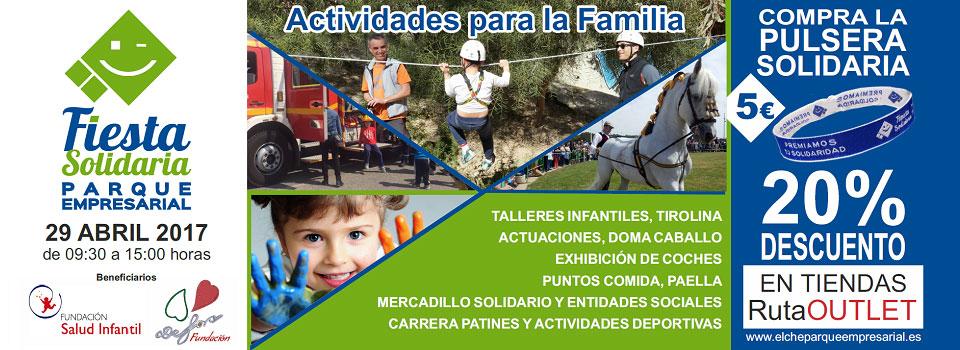 Poster de la VI Fiesta Solidaria Elche Parque Empresarial