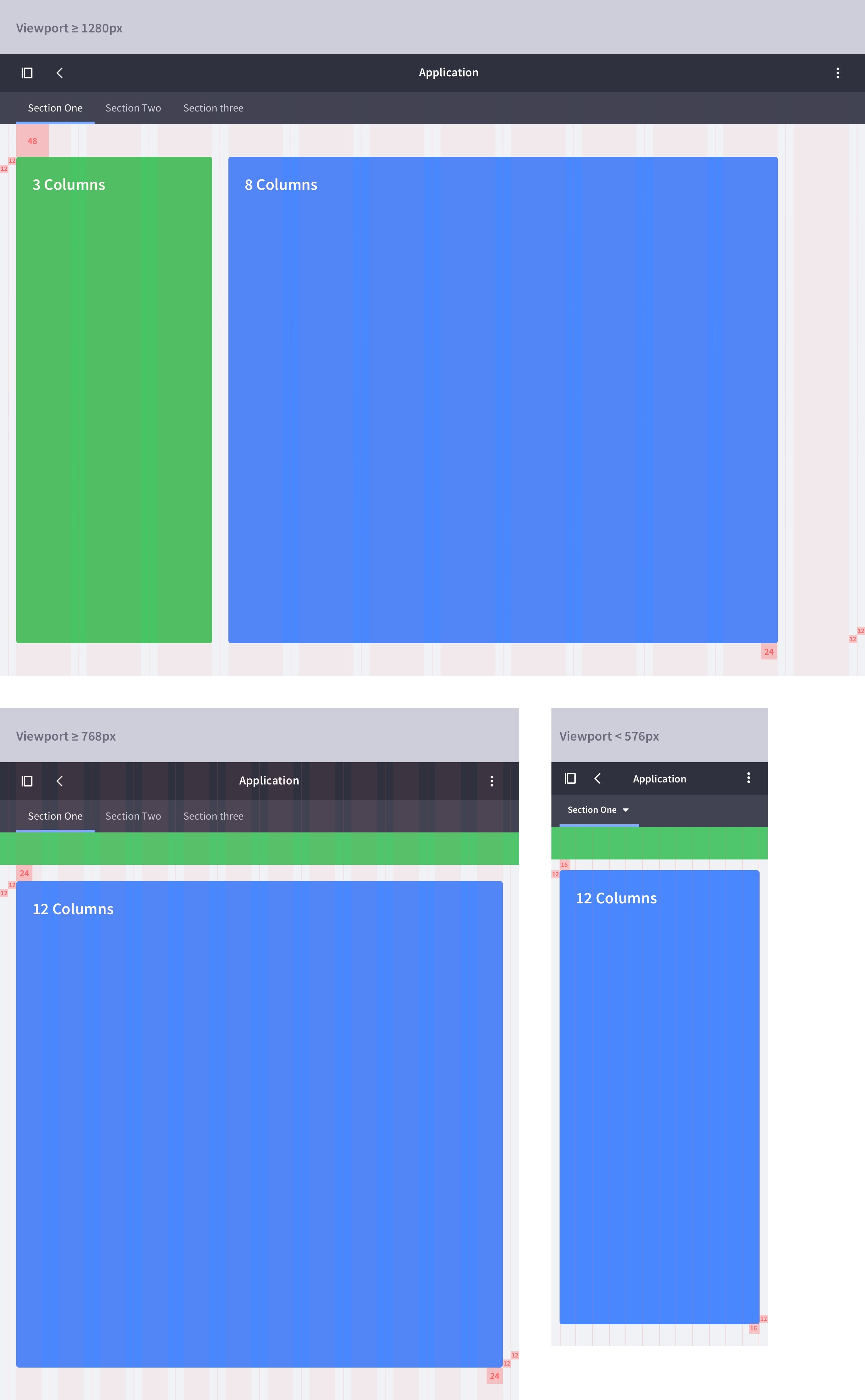 layout sidebar + box 8 columns metrics