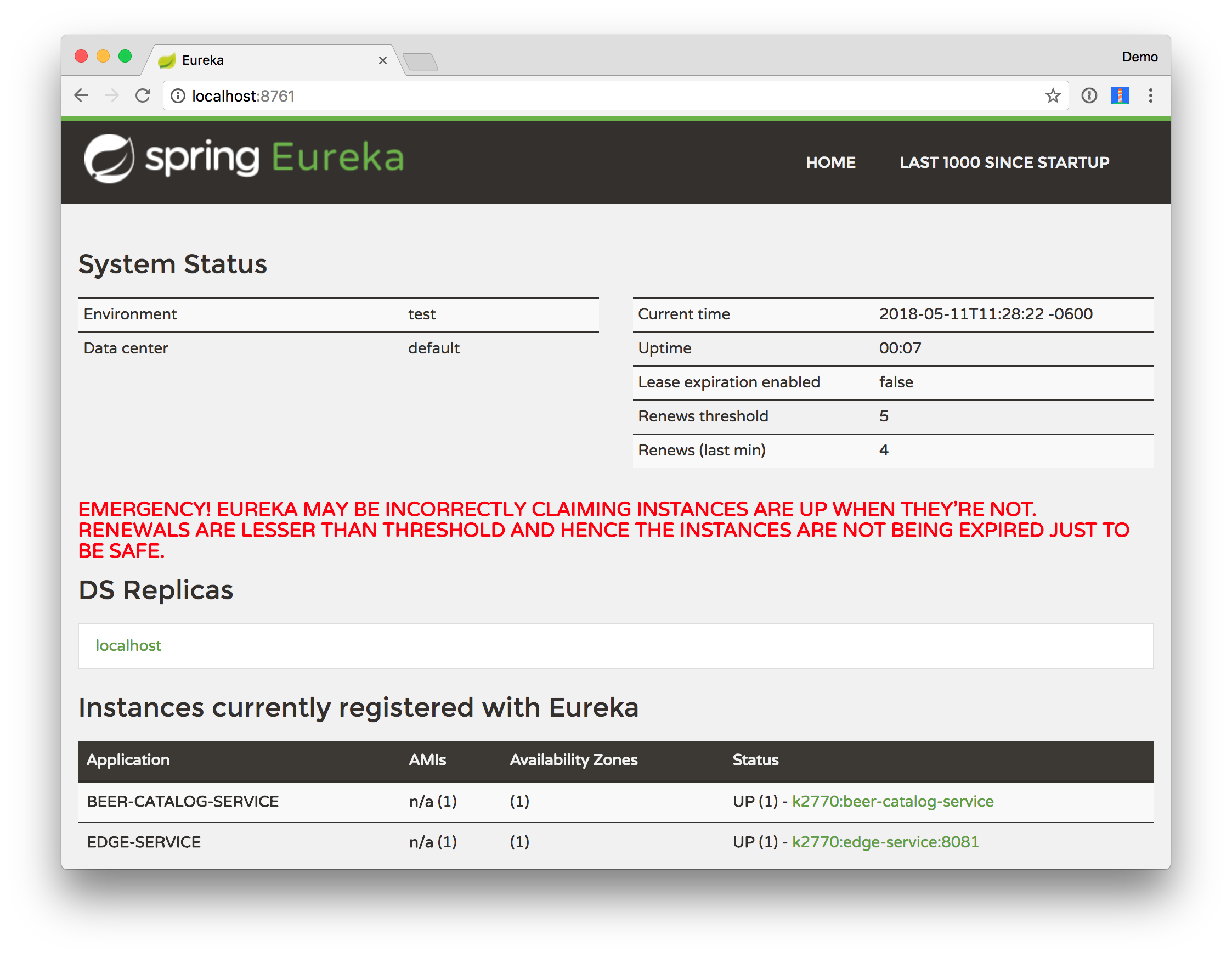 Edge Service Registered