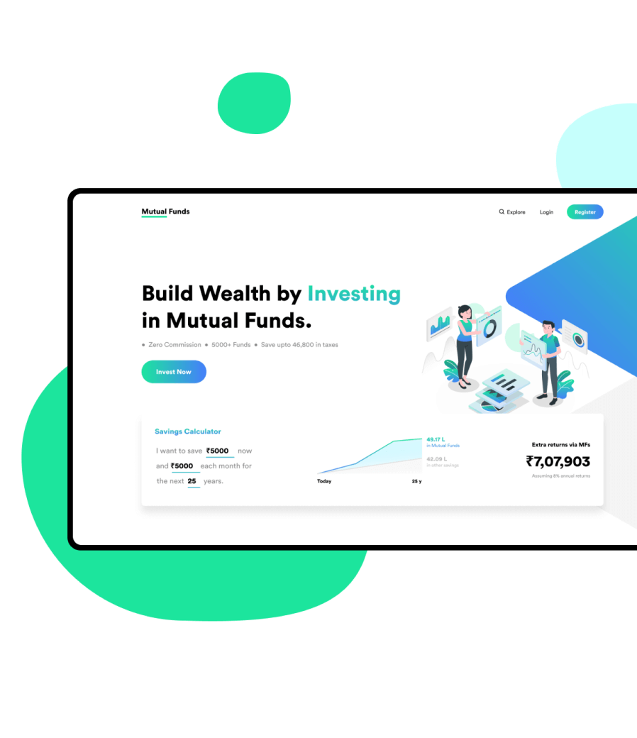 Mutual Fund Website & Mobile App Development for Financial Institutions