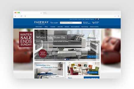 Web design for Fairway Furniture