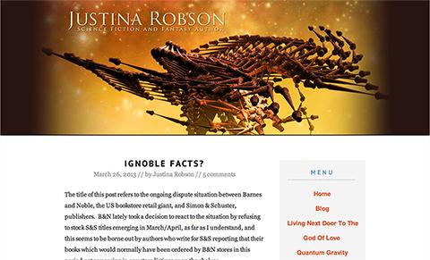 Screenshot of justinarobson.com