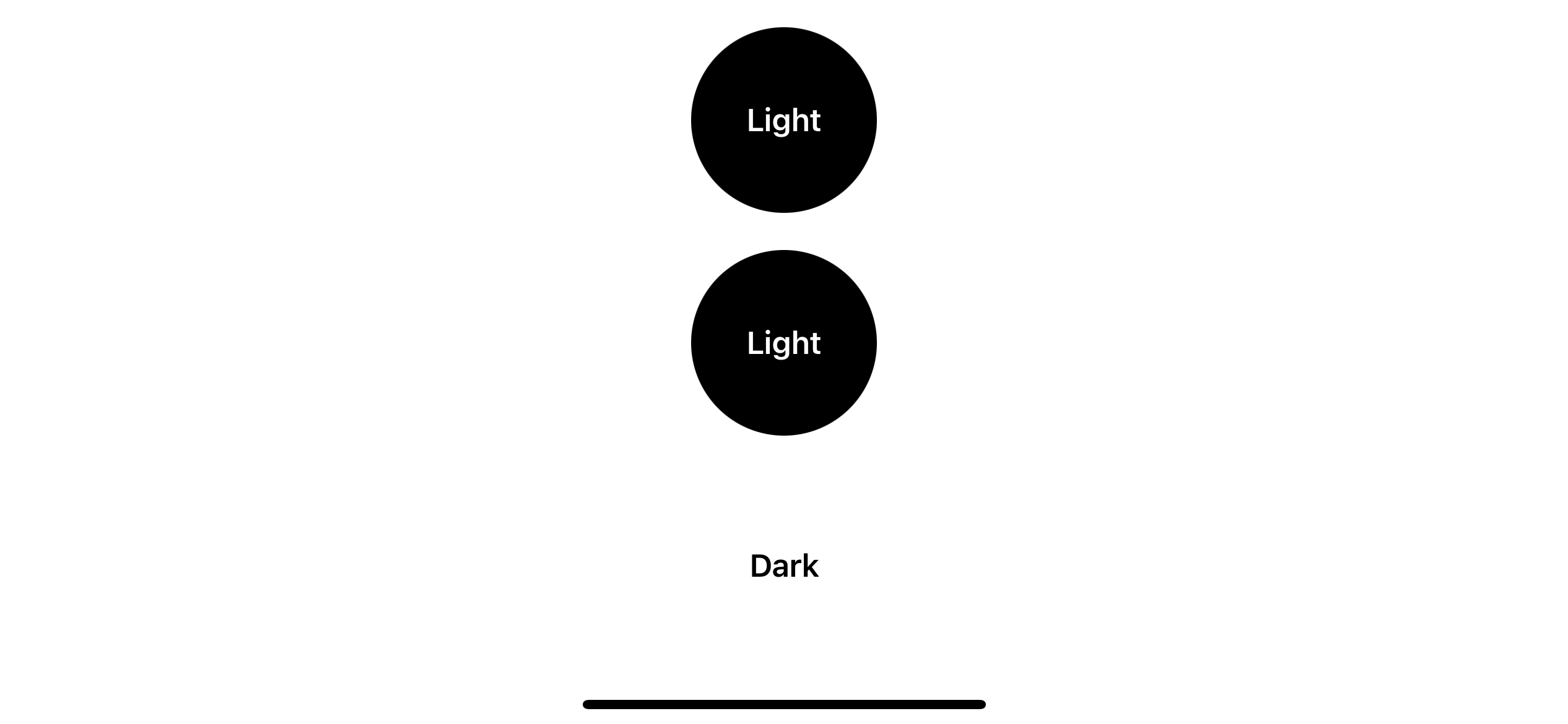 Result in light appearance