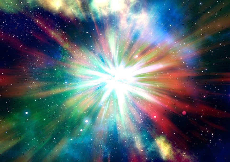 Illustratie van een kleurrijke sterrenhemel