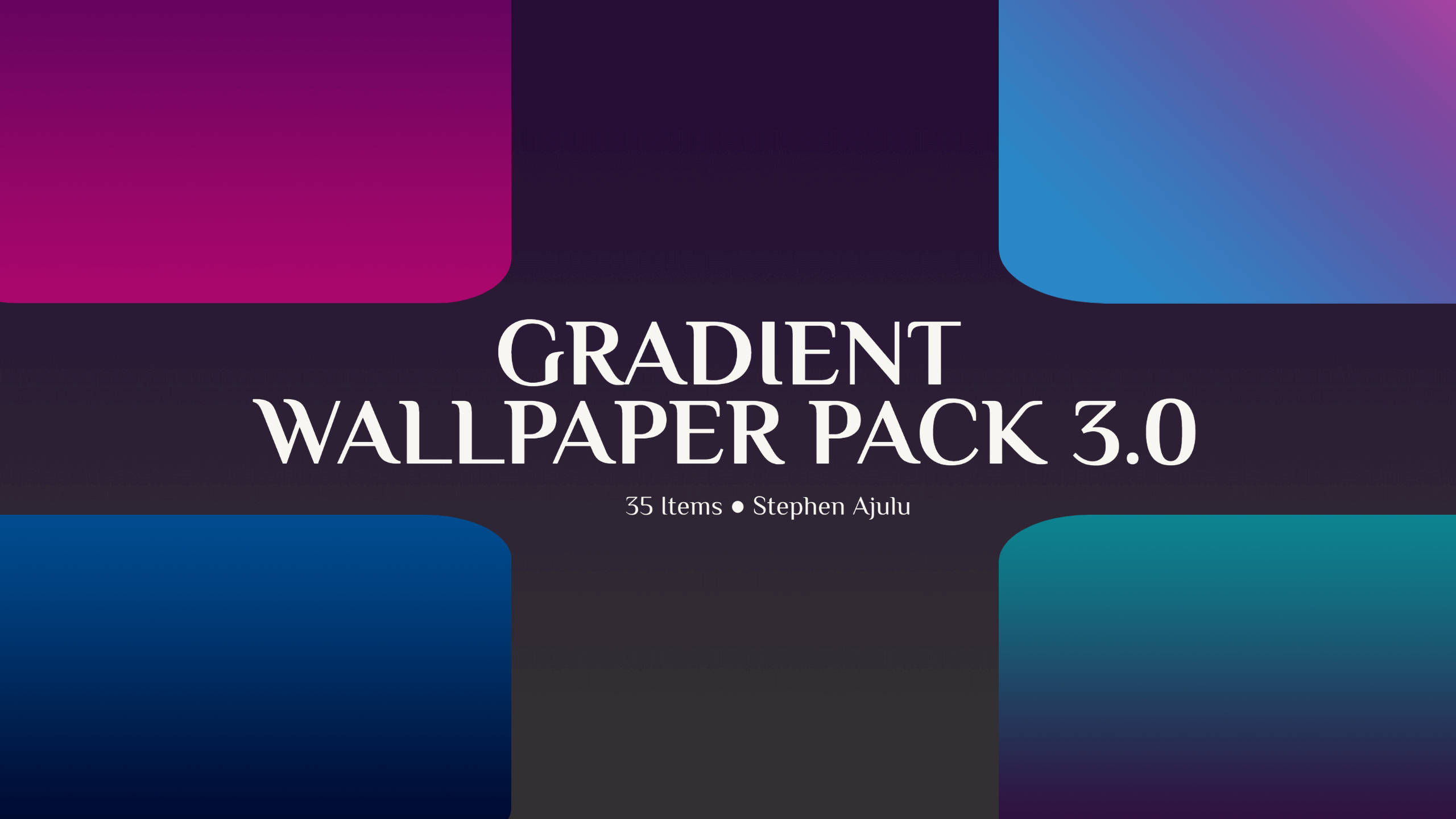Gradient Wallpaper Pack 3 is Out