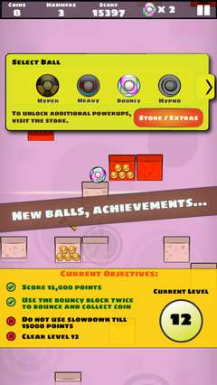 New balls and achievements to unlock.