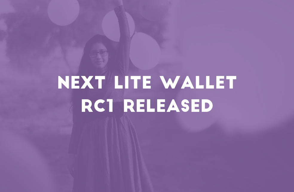 NEXT Lite Wallet RC1 Released