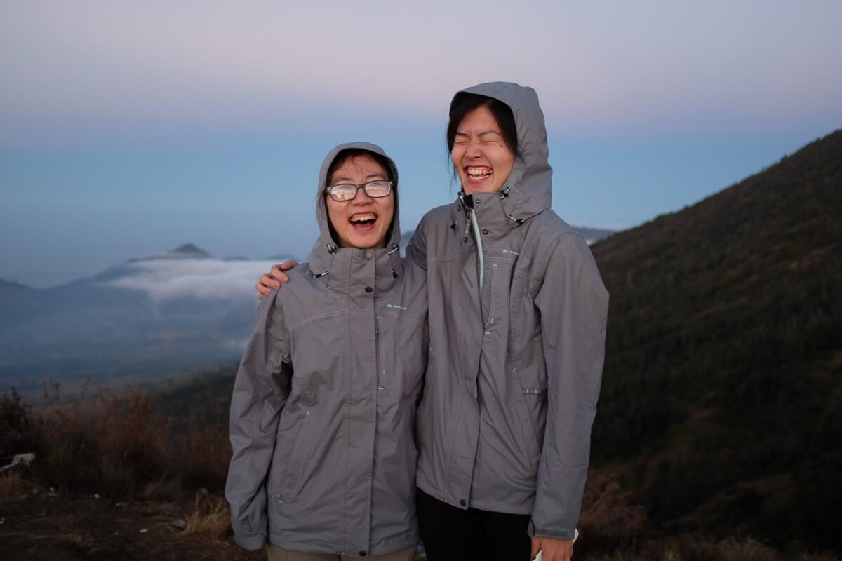 Happy faces on Rinjani Base Camp
