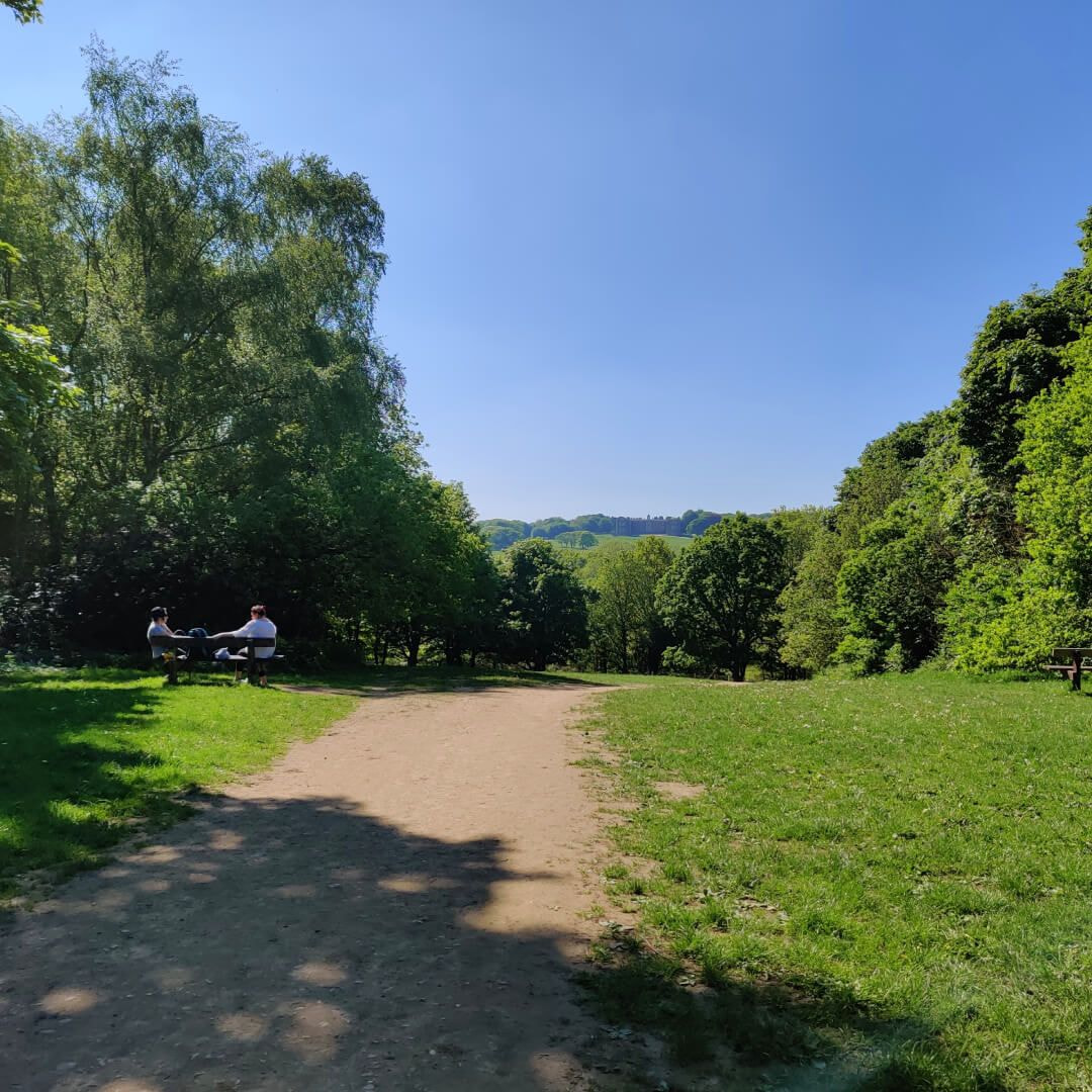 Temple Newsam path with house in distance