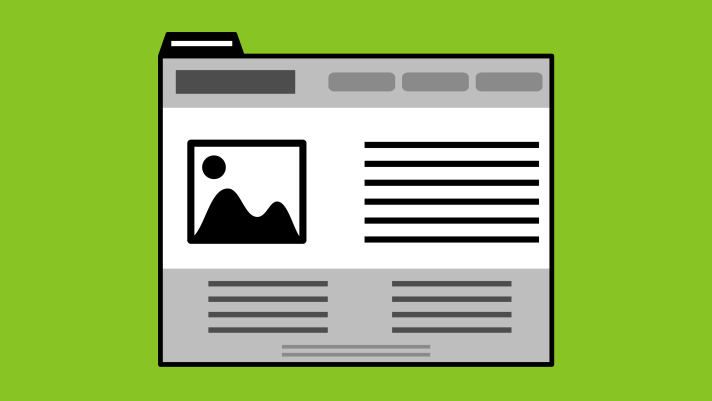 Illustration of a web page