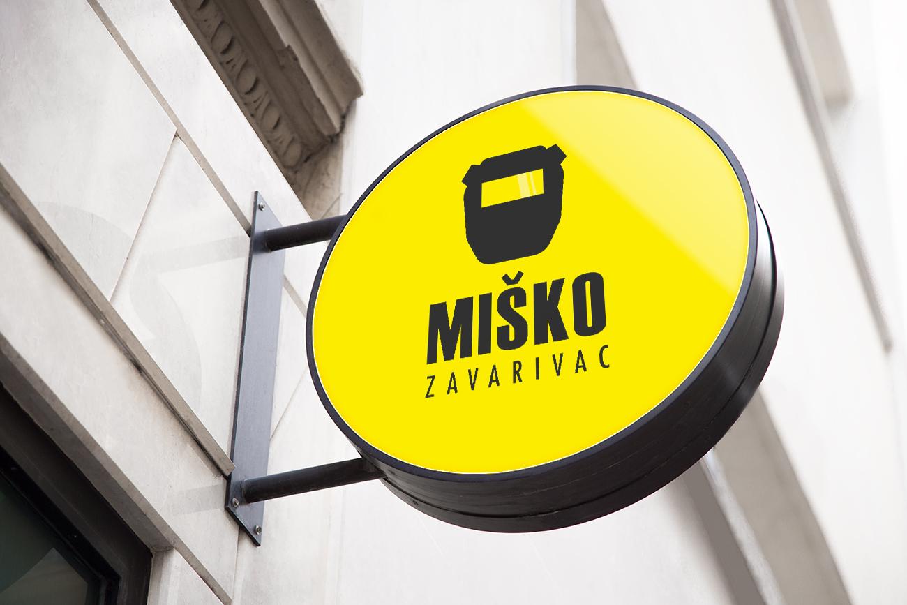 Misko Zavarivac Logo Design Mockup