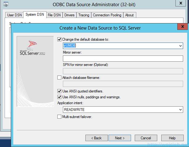 VMware vSphere Update Manager - 32 bit DSN 4
