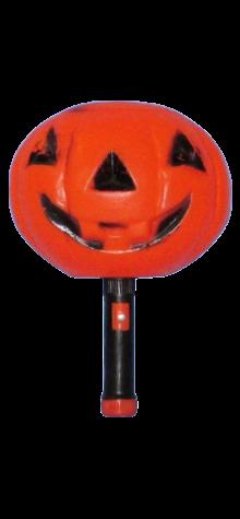 Pumpkin Lantern With Flashlight Handle photo