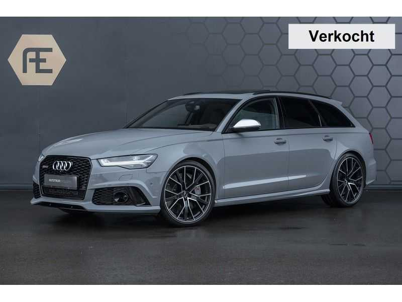 Audi RS6 Performance Avant 4.0 TFSI Quattro Pro Line Plus + BTW + KERAMISCHE REMMEN + MILLTEK + Garantie t/m 08-2022 afbeelding 1