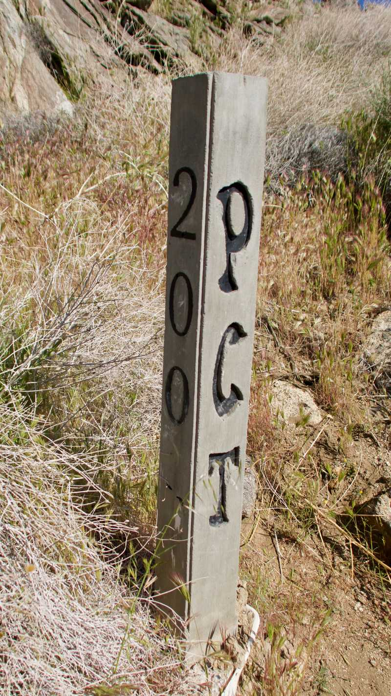 PCT marker for 200 miles