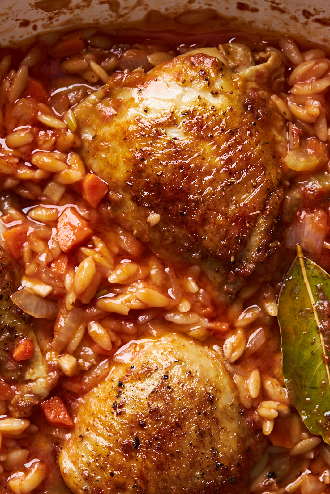 One Pot Baked Greek Chicken Orzo
