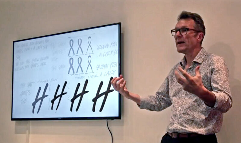 Bruno Maag shares insights about typography with the This Place team