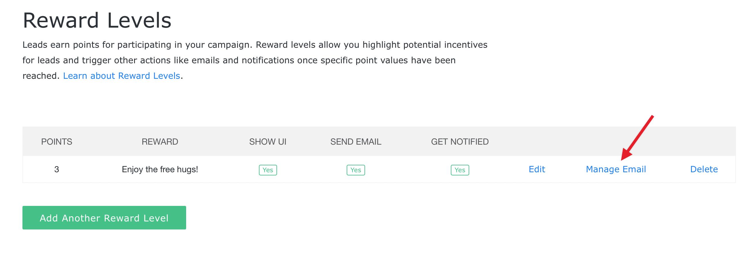 manage rewards