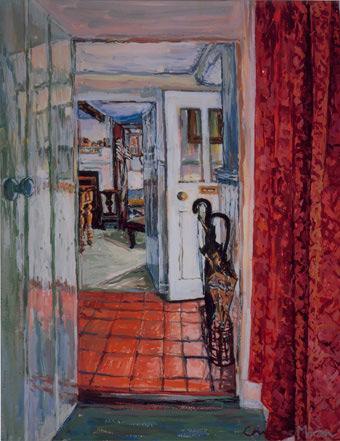 Cottage Doorways gouache painting