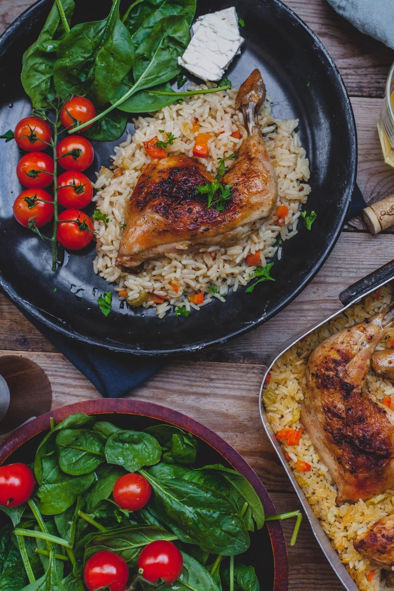 Mom's roasted chicken and rice
